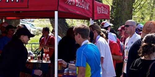 Horsetooth Half Marathon New Belgium Post Race Beer Garden