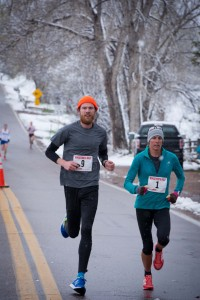 Brianne Nelson and Stephen Pretak go one and two after running most of the race together.
