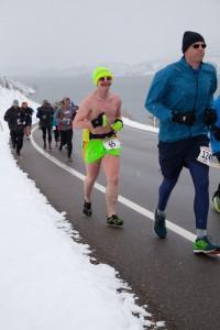 Shirtless Runner Horsetooth Half Marathon