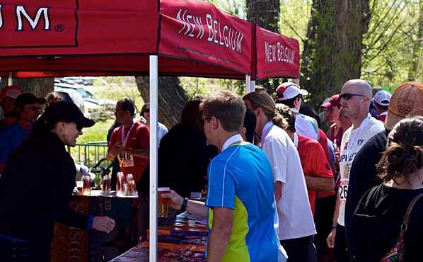 Horsetooth Half Marathon New Belgium Post Race Beer Garden