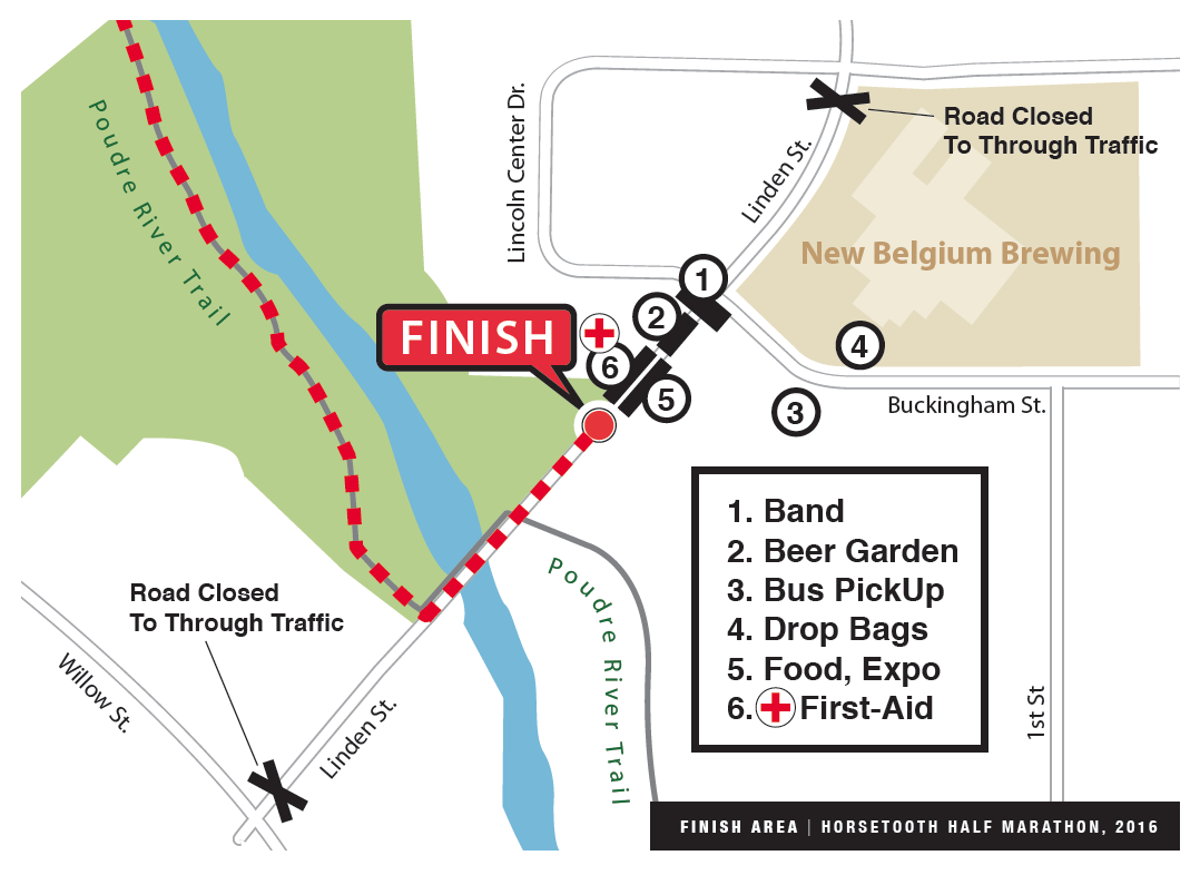 Horsetooth Half Marathon Finish Area Map
