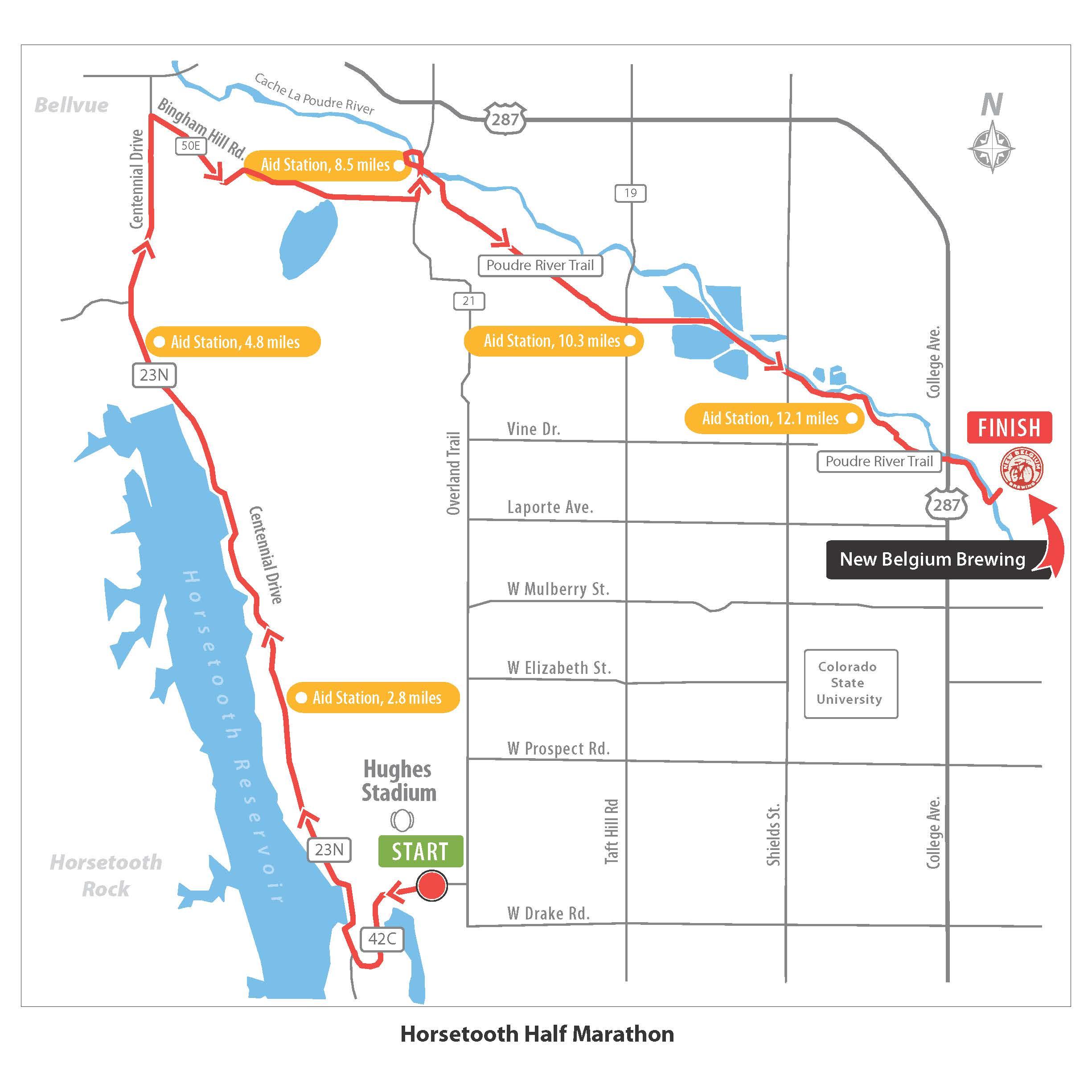 Horsetooth Half Marathon Course Map